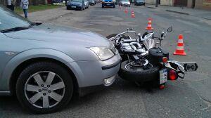 Dwoje motocyklistów rannych po zderzeniu z fordem