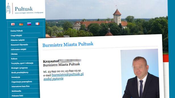 Areszt dla burmistrza Pułtuska utrzymany Urząd Miejski w Pułtusku