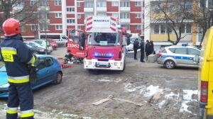 Pożar na 10. piętrze. Przed budynkiem znaleziono ciało