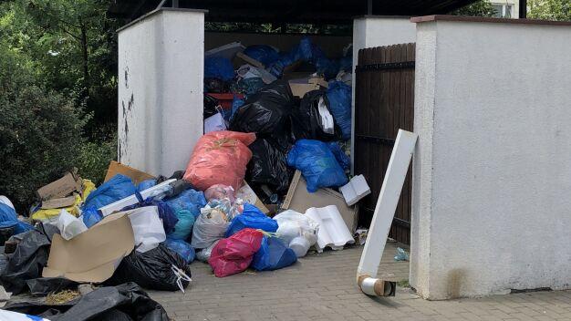 Przepełnione kontenery w dwóch dzielnicach. Ratusz zapowiada kary