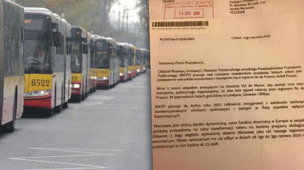 Paryż będzie uczył się od Warszawy ekologicznej komunikacji TVN24