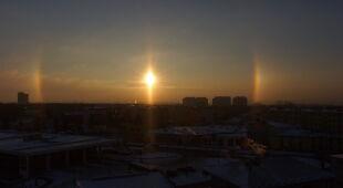 ZAMOŚĆ -Słońca poboczne -wschód słońca 07.01.17