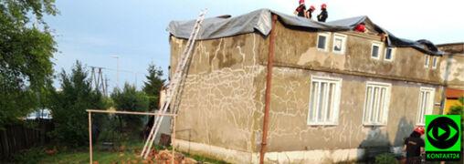 Zerwane dachy, połamane drzewa. Skutki czwartkowych burz