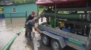 Ulewa w Brzeszczach zalała domy i ulice